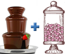 Candy Bar and Chocolate Fountain Deal