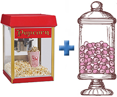 Candy Bar and Popcorn Hire Deal